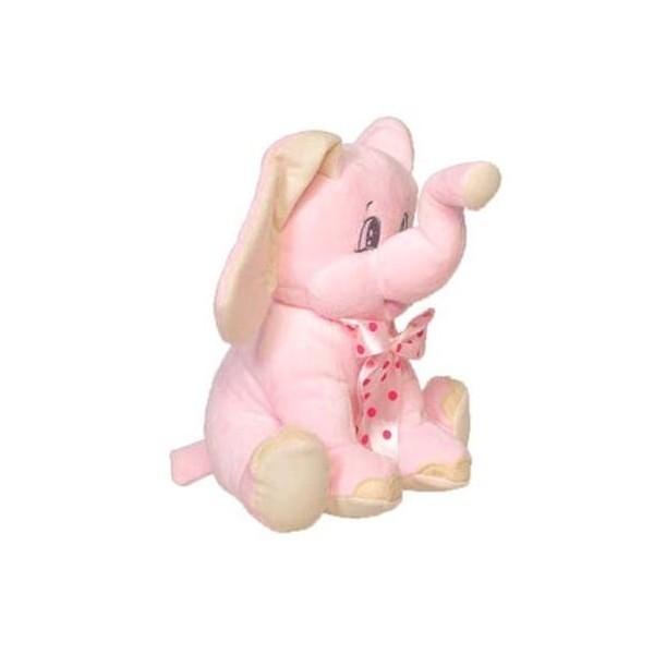 Detalle de Bautizo peluche elefante rosa