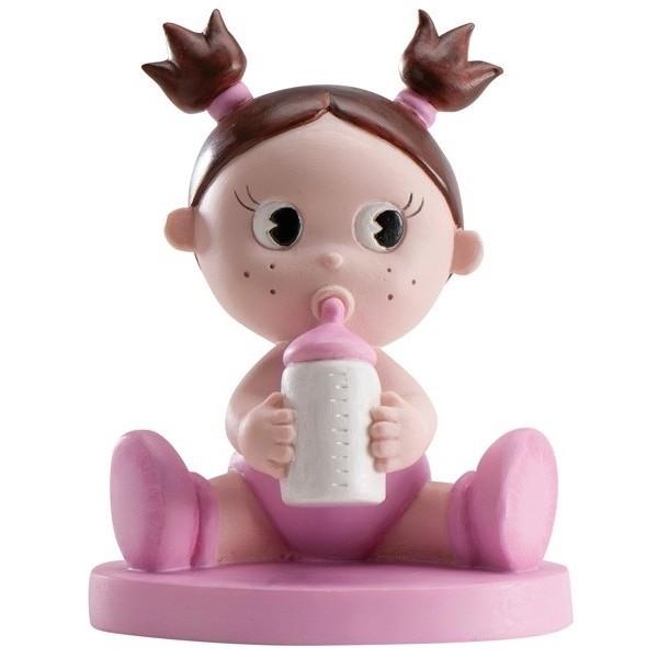 Detalle de Bautizo figura pastel nena