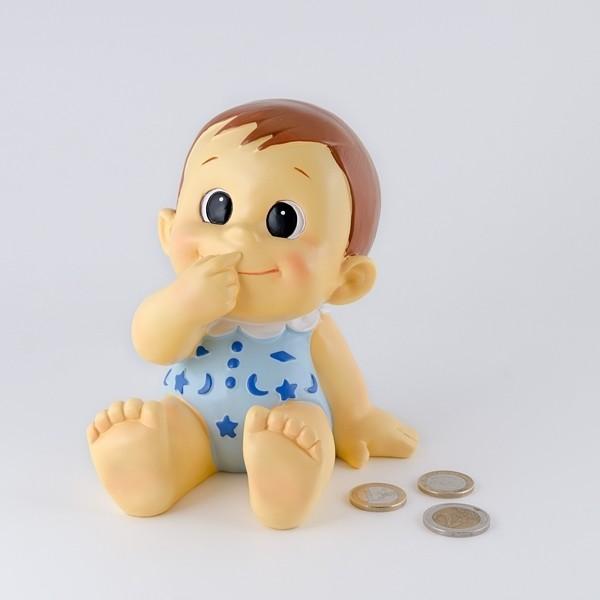 Detalle de Bautizo hucha bebe niño gracioso