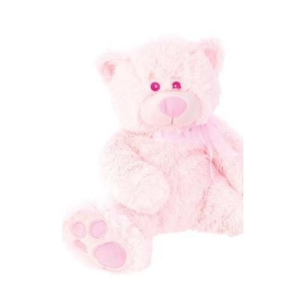 Detalle de Bautizo peluche osito rosa