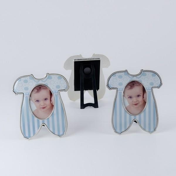 Detalle de Bautizo portafoto imán pijama bebe azul