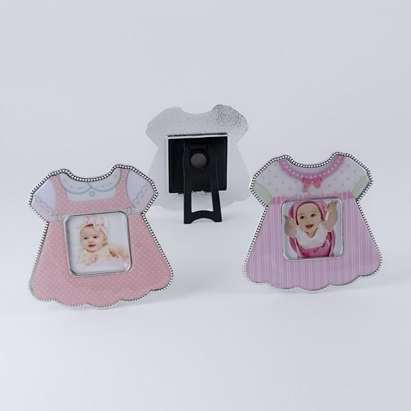 Detalle de Bautizo porta foto imán vestido rosa