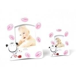 Detalle de Bautizo portafoto sonrisa rosa pequeño