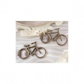 Abrebotellas forma bicicleta para detalle bautizo