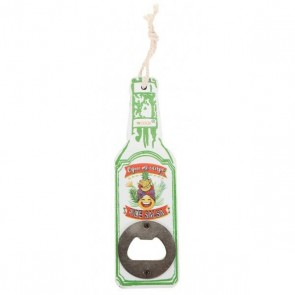 Abrebotellas madera forma botella para detalle bautizo