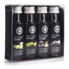 Detalle bautizo caja de cuatro sabores aceite de oliva
