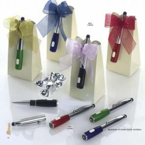 Bolígrafo linterna y puntero táctil con estuche para detalle bautizo