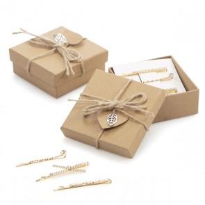 Pasadores brillantes en caja regalo