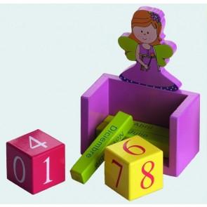 Detalle de Bautizo para niños calendario madera hada