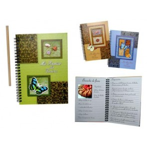 Detalle bautizo cuaderno cocina con lapiz