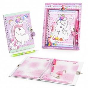 Diario unicornio para recuerdo de bautizo