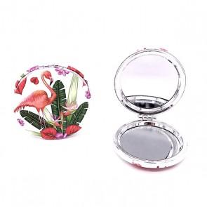 Detalle de bautizo para mujer espejo tropical flamencos