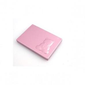 Detalle de Bautizo espejo rosa peine osito
