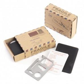Detalle bautizo caja postal kit supervivencia