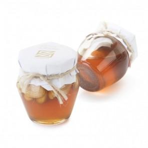 Detalle bautizo miel con almendras