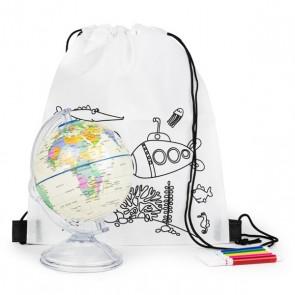 Mochila con hucha en forma de globo para detalle niños