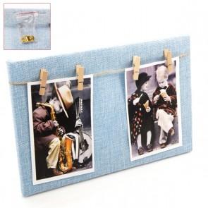 Portafoto madera cuadro azul para detalle bautizo