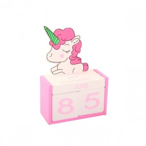 Detalle bautizo calendario unicornio