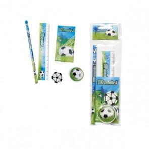 Detalle de Bautizo para niños set de 5 piezas de papelería dibujos de fútbol