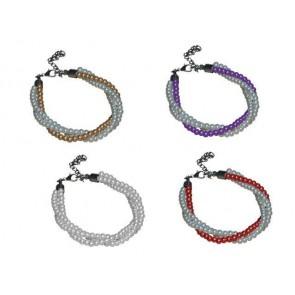 Detalle bautizo pulsera triple perlas