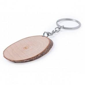 Llavero madera ovalado para detalle bautizo hombre