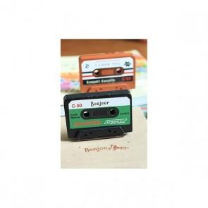"Sello cassette ""Bonjour"" para detalle bautizo"