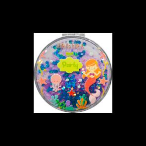 Espejo purpurina sirenita para detalle bautizo