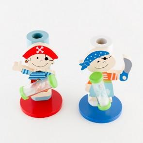 Detalle de Bautizo para niños porta cepillos madera pirata