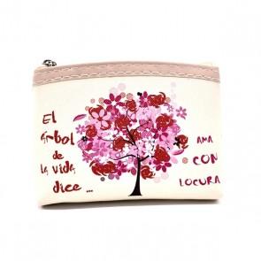 Monedero árbol de la vida para Detalle de Bautizo mujer