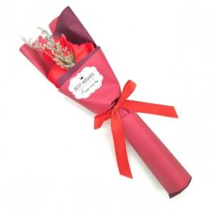 Ramo flor de jabón en caja para detalle de bautizo