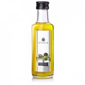 Detalle bautizo aceite de oliva en botella cristal pequeña