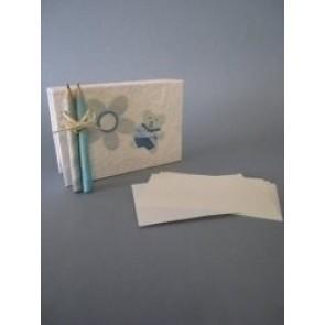 Detalle de Bautizo taco azul papel mache