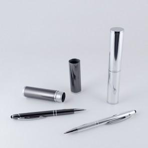 Set bolígrafo puntero táctil aluminio para bautizo